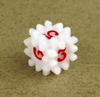 Hedgehog dice (white)