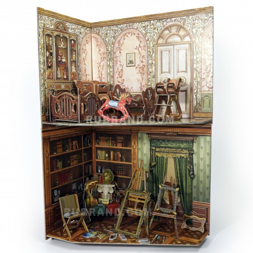 Artist's studio & Nursery  Artist's studio & Nursery is perfect for your dollhouse!