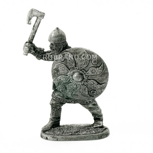 Russian warrior with an axe