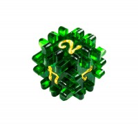 "Hedgehog dice ""Bottle green"""