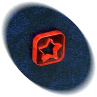 Red star square token