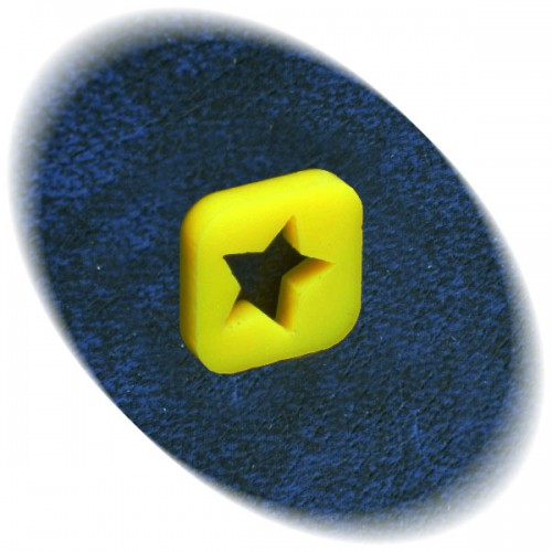 Yellow star square token