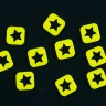 Yellow star square token  - Yellow star square tokens