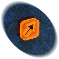 Orange arrow token