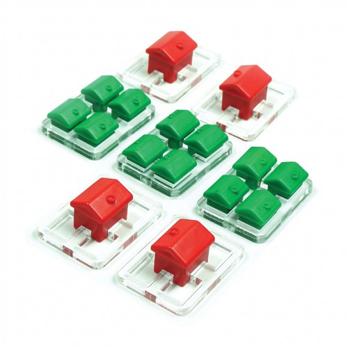House holders for Monopoly game tokens  House holders for Monopoly game tokens are suitable for Monopoly tokens.
