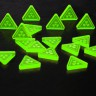 Radiation token (green)  - Radiation tokens (green) for board games