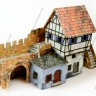 A house by the wall  - Medieval house terrain