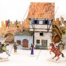 A house by the wall  - Medieval house terrain with miniatures