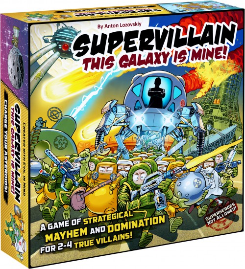 Supervillain. This Galaxy Is Mine!  Buy card board game Supervillain. This Galaxy Is Mine! at rubrand.com. Supervillain. This Galaxy Is Mine! is an intense card strategy inspired by all the sci-fi worlds put together and fueled with frenzied humor.
