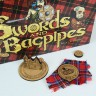 Wooden tokens set (for Swords and Bagpipes)  - Wooden markers for Swords and Bagpipes