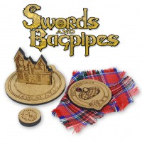 Wooden tokens set (for Swords and Bagpipes)
