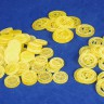 Gold coins set (for Swords and Bagpipes)  - Gold  coin tokens for any board game