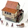 Watermill  - Watermill terrain and cardboard miniatures 25 mm