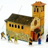 Chapel  - Chapel terrain made of cardboard with miniatures 25 mm