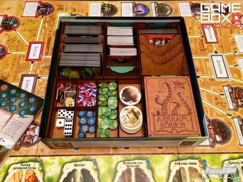 FancyBox Arkham Horror Organizer  FancyBox Arkham Horror Organizer is perfectly useful for all owners of Arkham Horror board game.