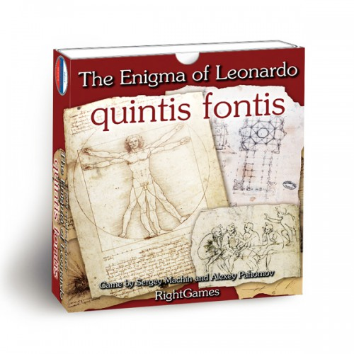 The Enigma of Leonardo. Quintis Fontis board game Quintis Fontis is an Amateur variant of rules for the board game called The Enigma of Leonardo.