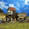 Town wall  - Town square. Actors terrain set from the Medieval Town