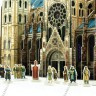 Gothic cathedral  - Gothic cathedral with 25 mm miniatures