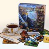 Kings under Mountains board game - A cup of tea and Kings under Mountains boardgame made by Rightagmes