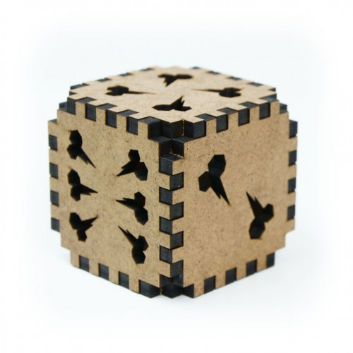 "Orcish Mega Dice  Orcish Mega Dice is a huge wooden dice made in ""orcish"" style!"
