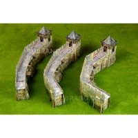 Defensive walls set
