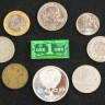 Game Money set: 1\5\10 dollar  - 1 dollar token