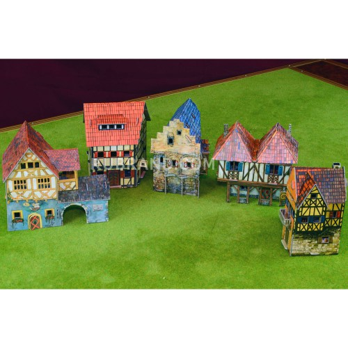 Village buildings set
