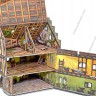 Village buildings set  - School terrain for war games and dioramas
