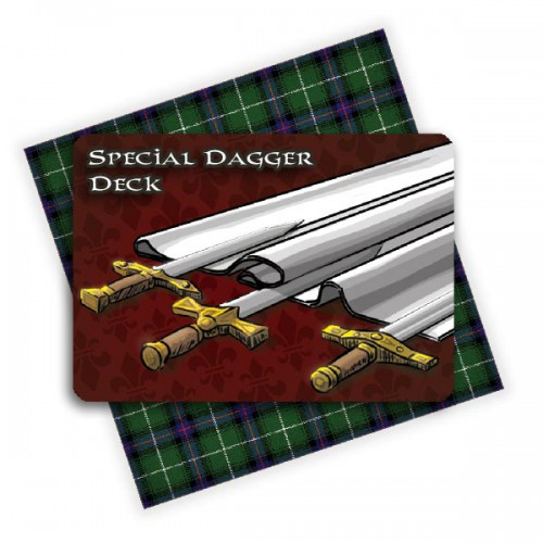 Swords and Bagpipes board game Special Dagger deck