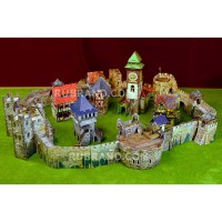 Medieval castle (bourg) set