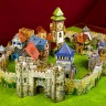 Medieval castle (bourg) set  - Medieval castle (bourg) terrain set for war games and dioramas