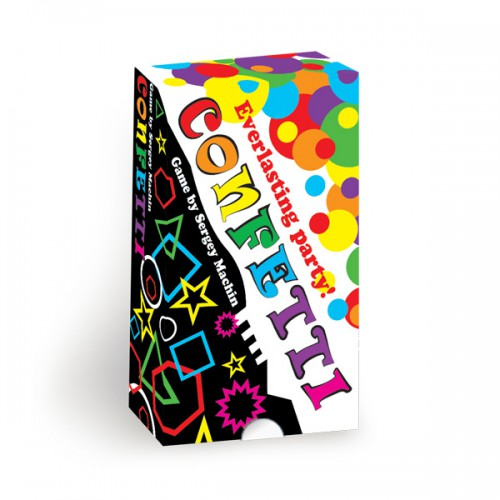 Confetti board game Confetti is a fun board game that challenges your attention and reaction skills.