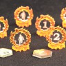 Activity & Explored Markers for Arkham Horror (Orange series)  - Special Activity & Explored Markers for Arkham Horror (Orange series) board game