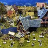 Diorama Collector's Set  - Diorama collector's set of medieval buildings with miniatures