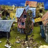 Diorama Collector's Set  - Diorama collector's set of medieval terrain buildings with miniatures