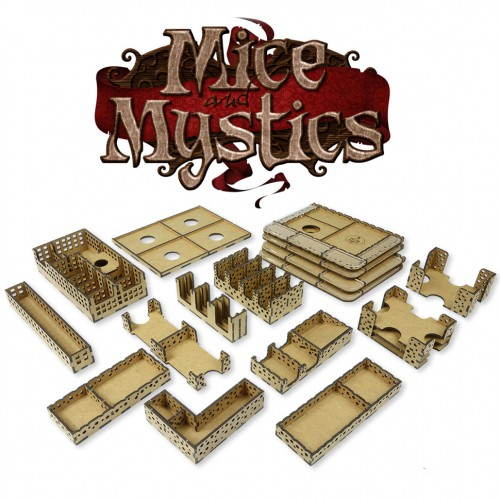 Mice and Mystics board game organizer Cheese game organizer for Mice and Mystics is great thing for all fans of this board game.