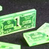 Game Money / One-dollar token, type 2  - Plastic (acrylic) One-dollar tokens