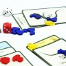 Set of shaped tokens for Evolution board game  - Blue chicken leg shaped tokens