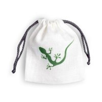 A bag for storage with lizard picture