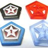 Influence red token (for Eminent Domain)  - Influence tokens (for Eminent Domain) made of plastic