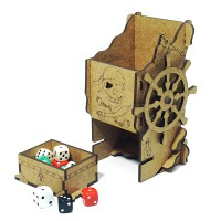 Pirate mechanical dice tower