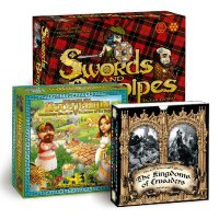 Historical board game set: The Kingdoms of Crusaders, Swords&Bagpipes, Founders of the Empire