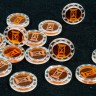 Hour-glass Token (with Zodiac)  - Hour-glass Token (with Zodiac) for any board game