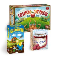Kids board game set: Bug Race, The Jam, Kitchen Garden