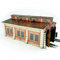 Locomotive shed