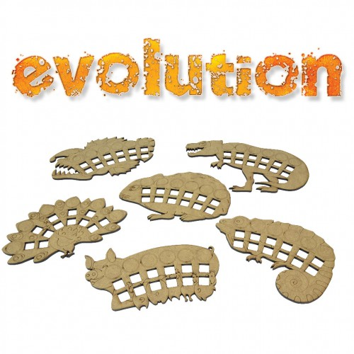 6 animal-shaped Species boards for Evolution (NSG version)