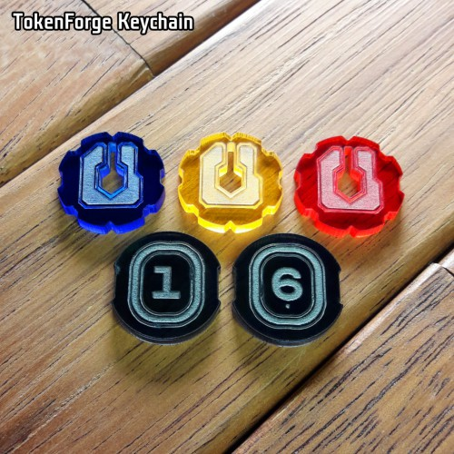 TokenForge Keychain (for KeyForge)  TokenForge Keychain (for KeyForge) is a set of keys and keychain tokens.