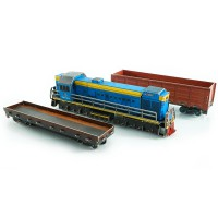 Train set (locomotive + gondola car)
