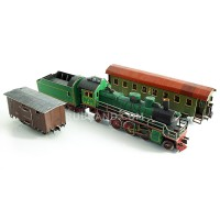 Old engine train set