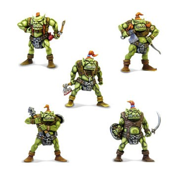 Orcs  Orcs can be used as big miniatures in other scales.